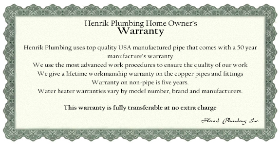 Our Warranty